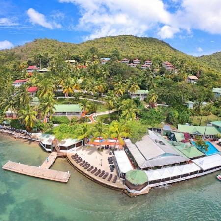 marigot beach club-aerial front view (002)