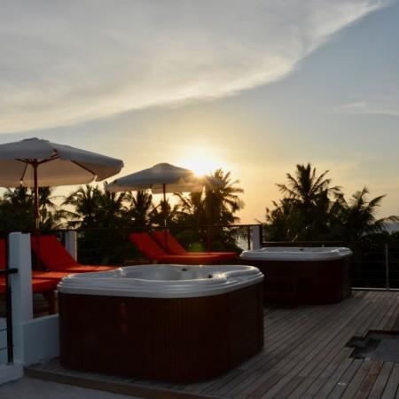 Roof Sunbeds sunset